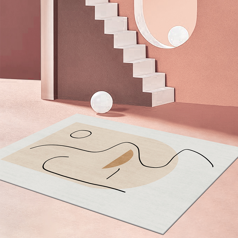 卧室客厅ins风地毯少女沙发茶几床边大面积全铺北欧房间家用地垫