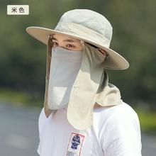 男女士夏天渔夫帽遮阳帽户外防晒帽子