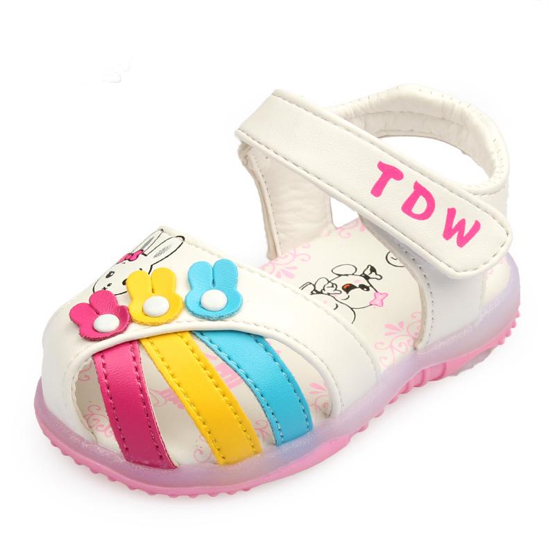 兒童涼鞋女童叫叫鞋男童閃燈鞋寶寶鞋子嬰兒學步鞋920