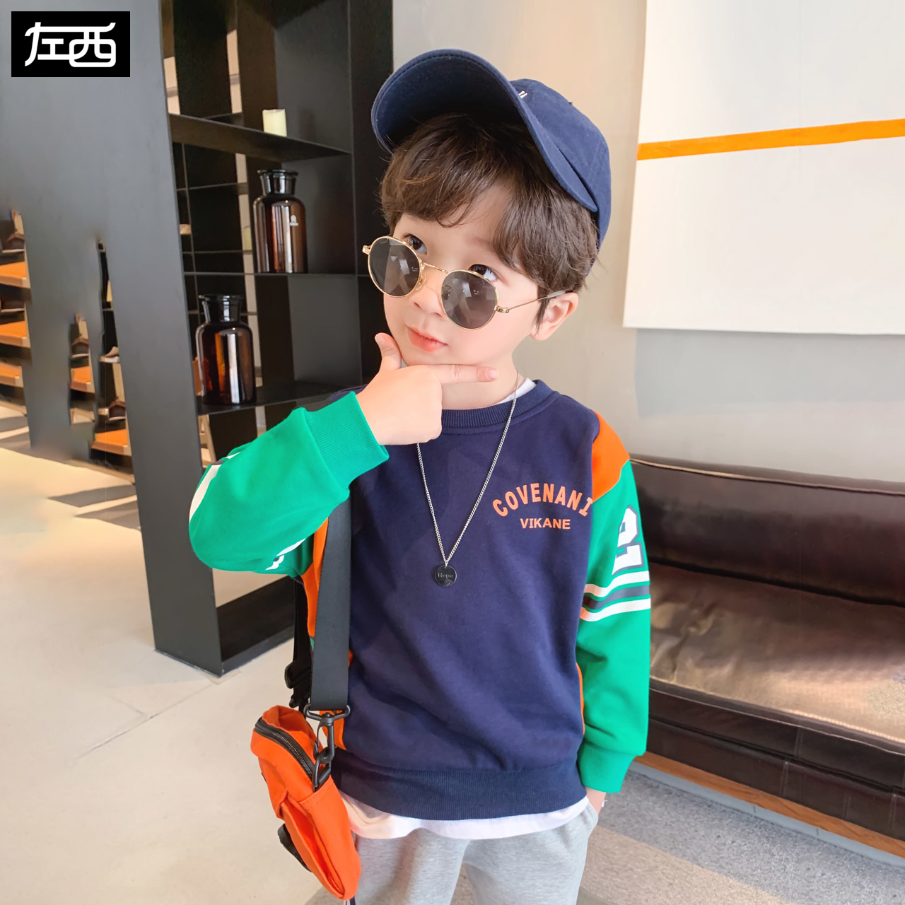 Zuoxi boys' health clothes spring clothing 2020 new children's long sleeve T-shirt
