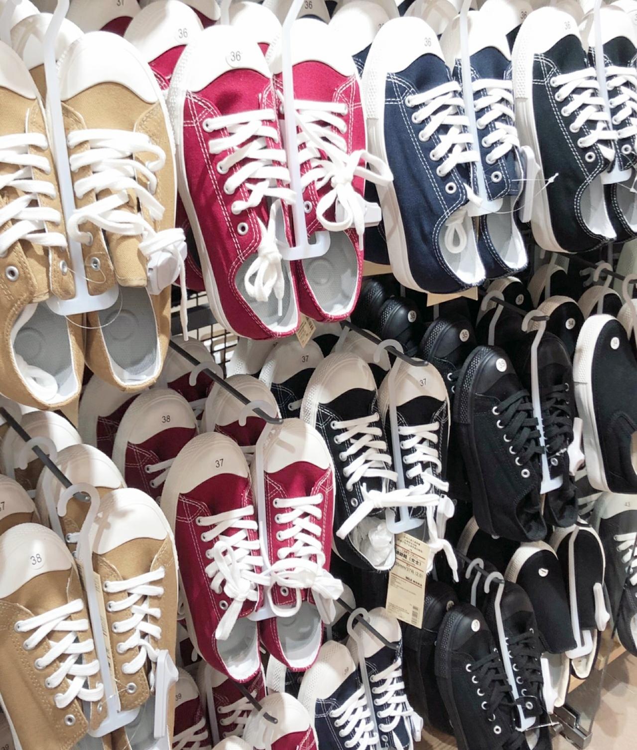 无印良品小白鞋MUJI帆布鞋新款不易沾水棉防疲劳男女百搭休闲鞋满5元可用5元优惠券