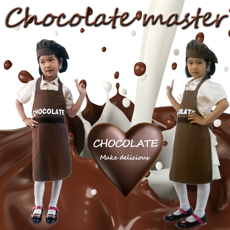 Childrens CHEF APRON painting chocolate shop show clothing childrens professional clothing experience Clothing role play customization