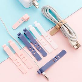 创意便携数据线网线收纳理线器耳机充电线防丢硅胶扎带绑带带卡扣