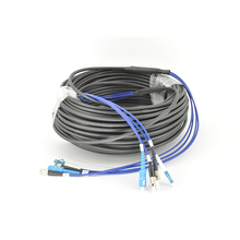 2/4/8/12/48 core outdoor SC/FC/ST/LC fiber optic jumper cable armoured overhead fiber optic cable fusion-free finished line outdoor coarsening telecommunication grade household extension line single-mode SC-SC