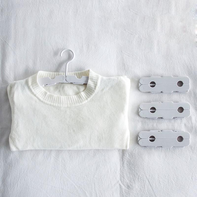 聚可愛 便攜摺疊迷你衣架戶外旅行晾衣架多功能家用魔術曬衣架