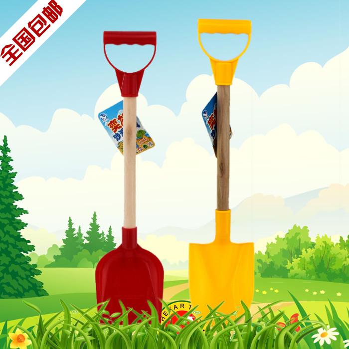 大号儿童加厚沙滩铲子玩具套装玩沙工具幼儿园挖土铁锹锄头雪铲 Изображение 1