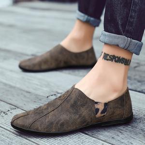 豆豆鞋真皮透气一脚蹬2021新款男鞋