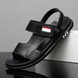 男青年夏季 休闲潮流开车凉拖鞋 凉鞋 外穿两用2020新款 两穿软底男士