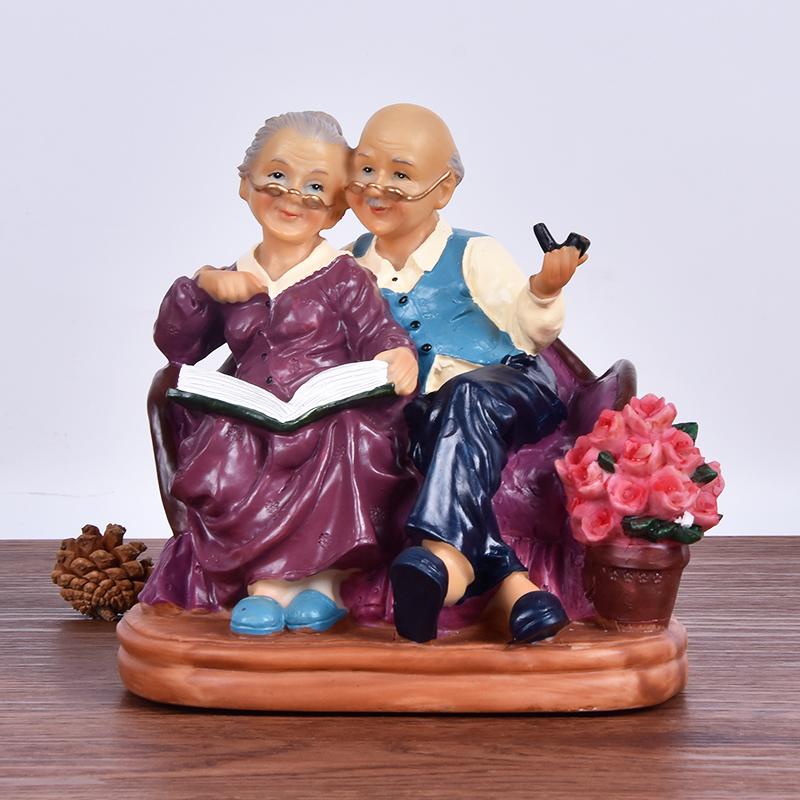 创意家居饰品摆件结婚周年纪念日送长辈爸妈父母礼品金婚银婚礼物