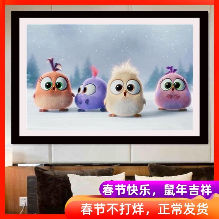 新款客厅可爱小鸟鸡贴钻十字绣儿童卧室卡通粘钻砖石画钻石绣简单