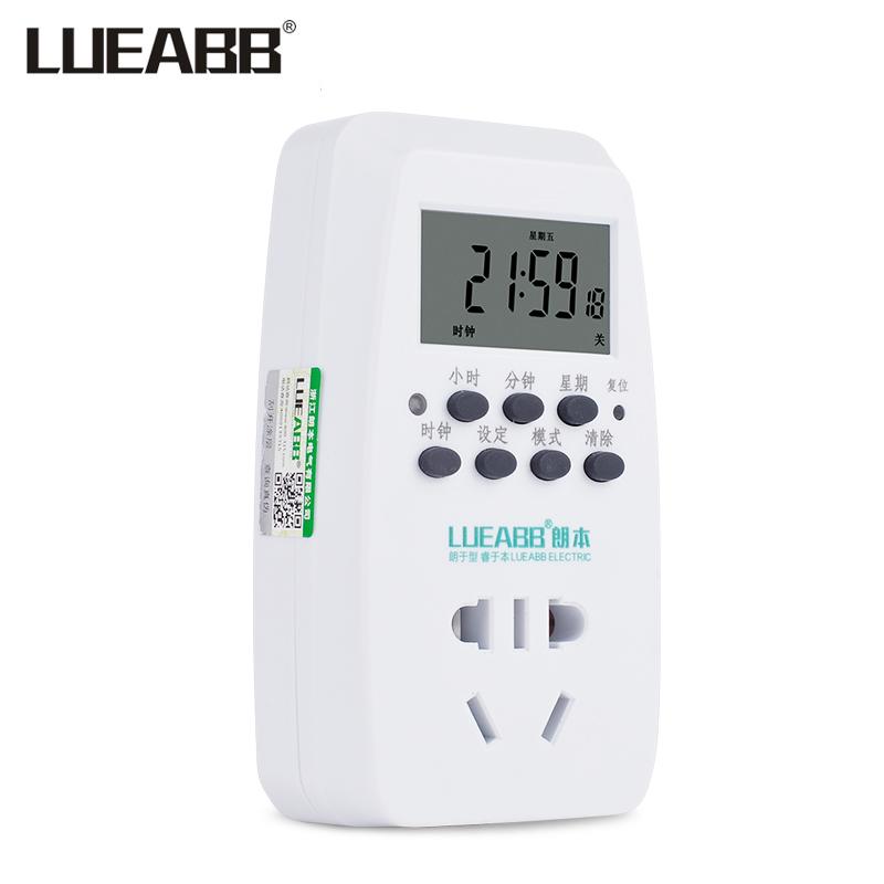 定時器插座 電動車自動充電智能家用廚房斷電開關電子時控定時器