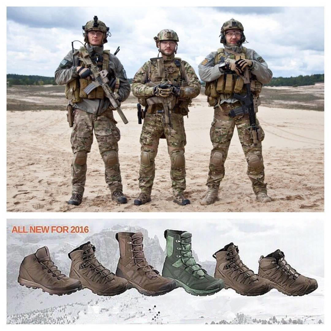 Salomon萨洛蒙3D 4D GTX FORCES战术靴男款军迷户外作训沙漠鞋靴