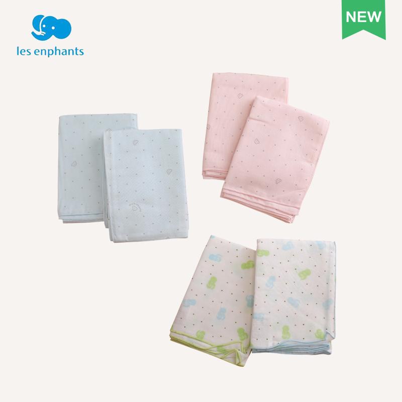 麗嬰房寝具乳児純綿ガーゼお風呂タオル新生児2条お風呂タオル2017新型