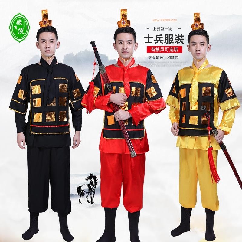 限3000张券古代士兵男成人古装盔甲披风战袍