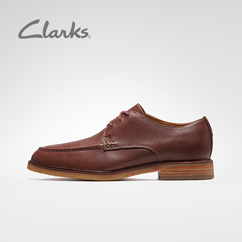Giày nam Clarks Qile ClarkdaleApron retro Giày nam công sở Anh Giày da nam đế thấp - Giày thấp