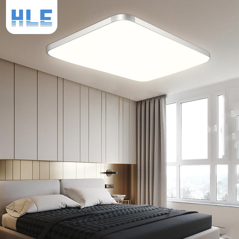 超薄led吸顶灯长方形简约现代客厅灯北欧2019年新款卧室阳台灯具