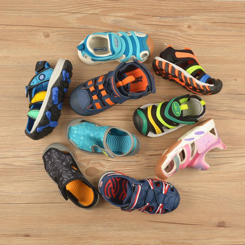 (用1元券)尾货清仓儿童包头凉鞋男童中童小童夏季透气软底防滑女童沙滩鞋子