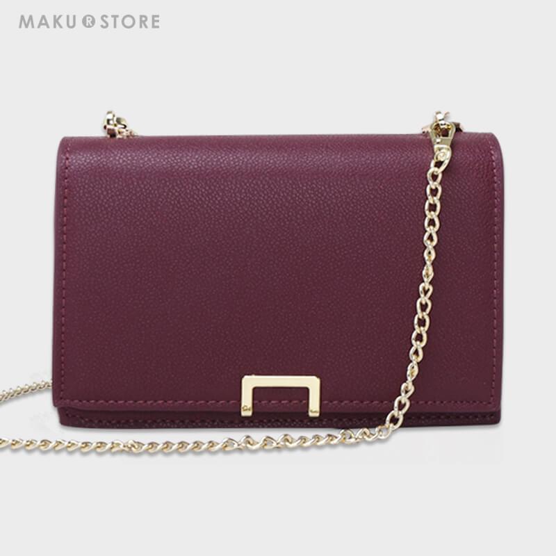 MAKU201新款chic包包风琴包链条锁扣小方包单肩斜挎