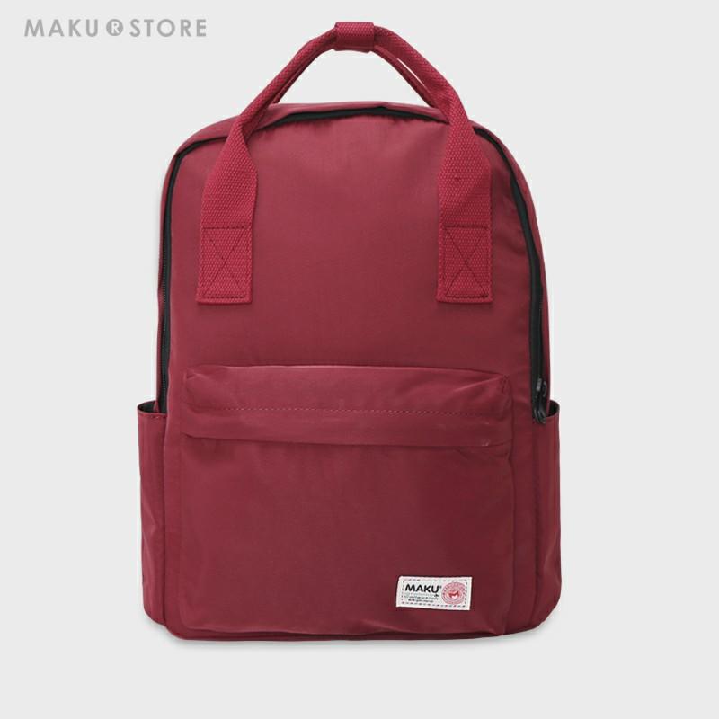 MAKU2019新款学院风双肩包初中生书包手提背包