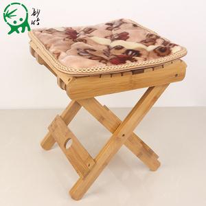 妙竹楠竹折叠凳子便携式家用实木马扎户外钓鱼椅小板凳小凳子方凳