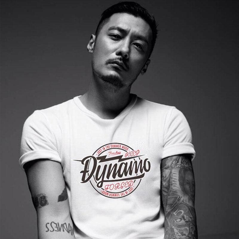 日系潮牌短袖t恤男夏季新款潮流简约上衣纯棉宽松体恤黑白色半袖