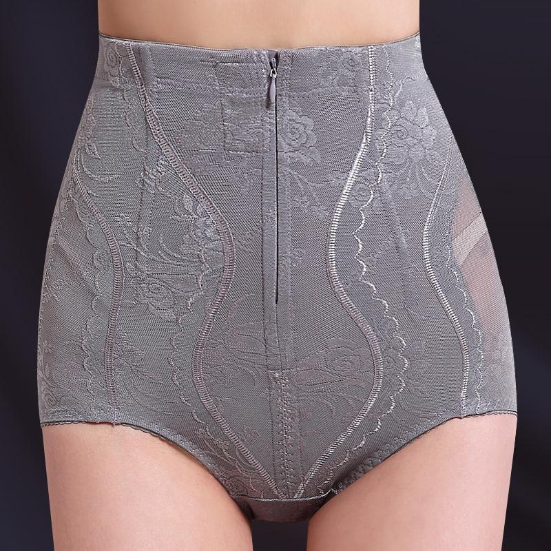 夏季薄款高腰塑形束腰束身收腹内裤女夏天束缚收复提臀神器塑身裤