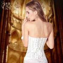宫廷美体束腰收腹提臀塑形束身衣上衣女婚纱薄款瘦身塑身衣内衣