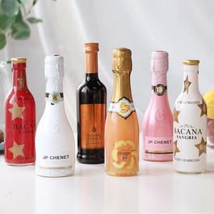 6支小可爱组合 法国香奈巧克力红酒桑格利亚气泡酒桃子酒起泡酒