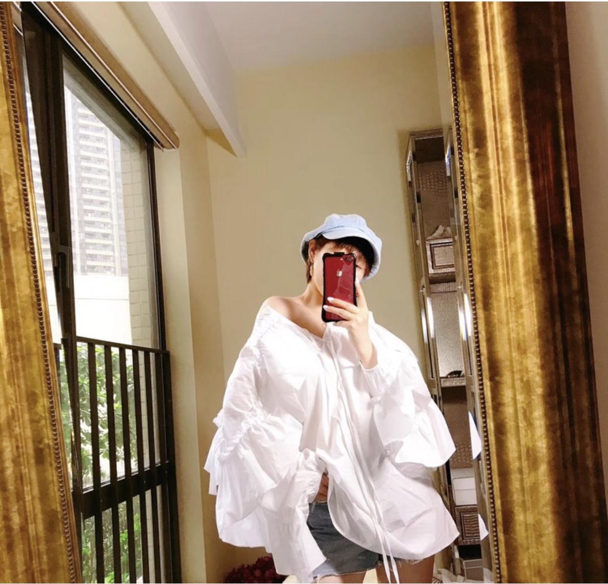 韩国stylenanda2018正品系带荷叶边遮肚子连衣裙女夏减龄藏肉显瘦
