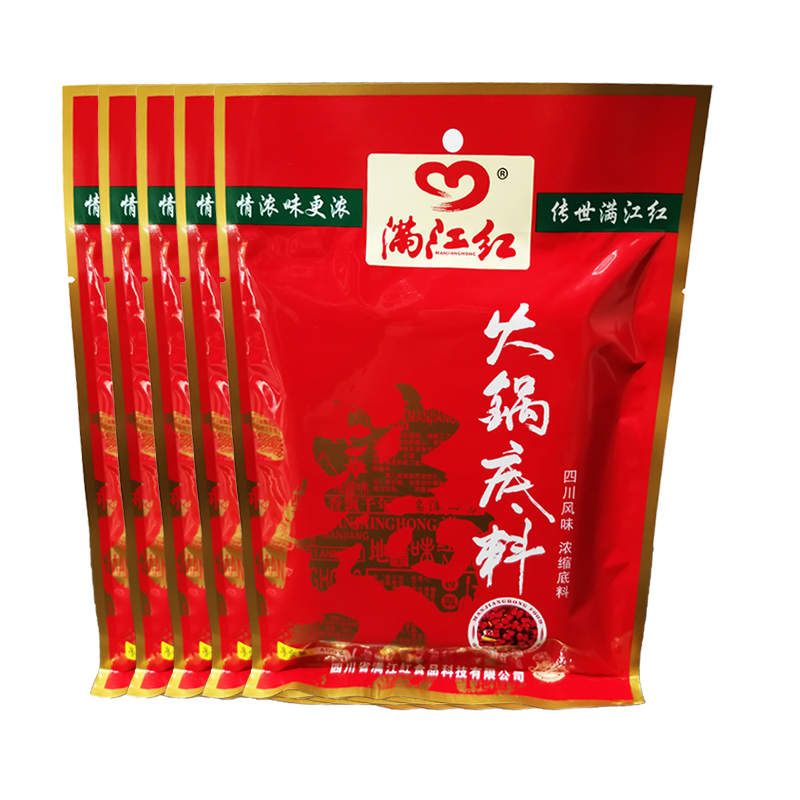 Butter hot pot Sichuan Manjianghong hot pot bottom 5 bags Chongqing spicy hot pot dry pot seasoning hot sale