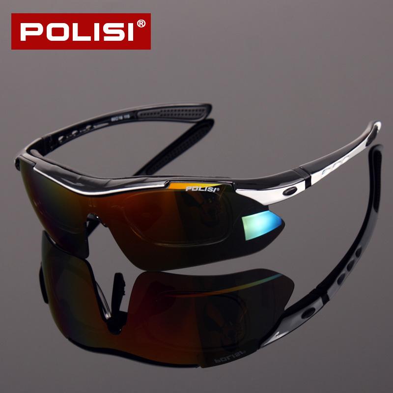 POLISI专业骑行眼镜偏光防风镜男女户外运动山地自行车骑行镜近视