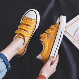 2020夏款秋鞋新款魔术贴帆布鞋女韩版ulzzang布鞋子学生小白鞋潮