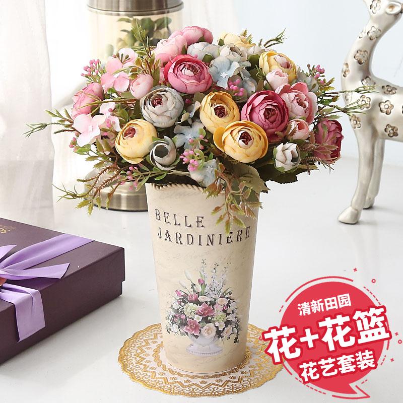 11月07日最新优惠客厅茶几欧式ins田园仿真花艺假花