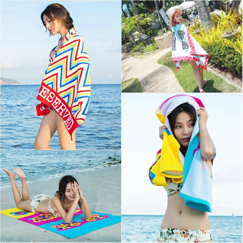 速干浴巾 旅行超轻沙滩垫巾便携式飞机毯吸水运动游泳超大毛巾