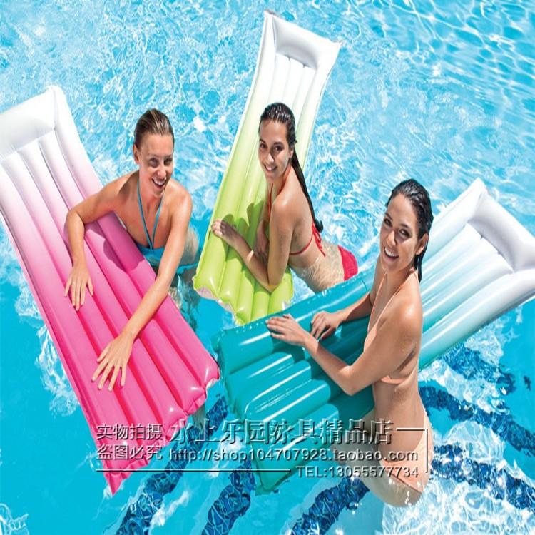 Бесплатная доставка сша INTEX для взрослых ребенок водный статьи плавающий круг градиент дрейфующий надувной плавать оборудование