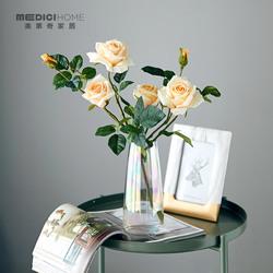 路易十四玫瑰手感保湿仿真花家居装饰假花样板间摆件餐桌花艺饰品
