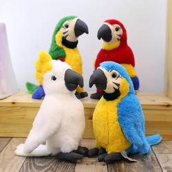 仿真鸟儿金刚鹦鹉公仔毛绒玩具摆件玩偶六一儿童节生日礼物送女生