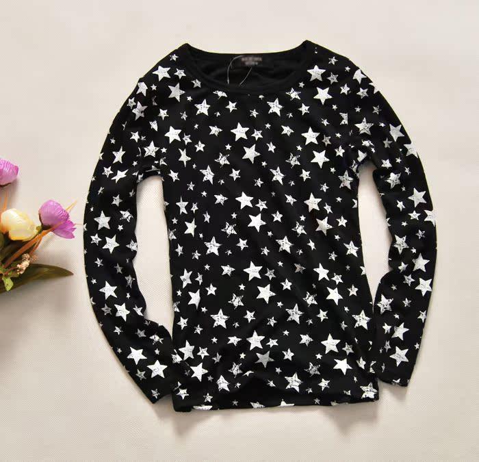 Внешней торговли детей одежда младенца девочек весной и осенью с новых детей Топ случайный и удобные длинные рукава футболки