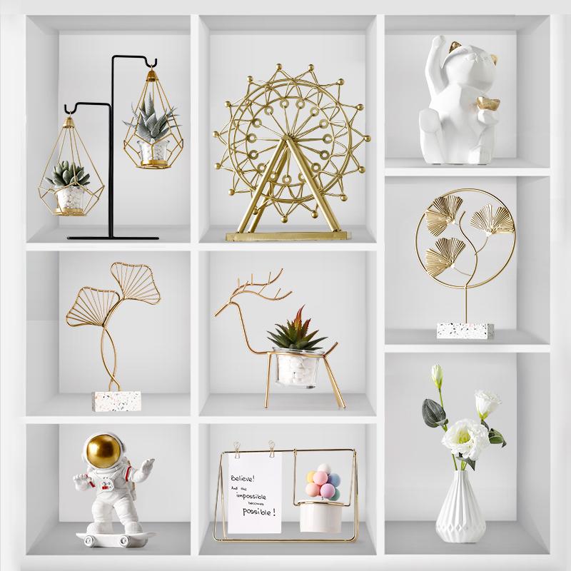 摆件家居装饰品创意客厅电视酒柜玄关小北欧轻奢风现代简约工艺品