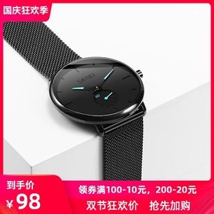 手表品牌十大男表虫洞新概念学生潮流石英瑞士非机械表 时刻美男士