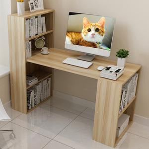 书桌书架组合简易学生卧室小户型写字书柜一体儿童家用台式电脑桌