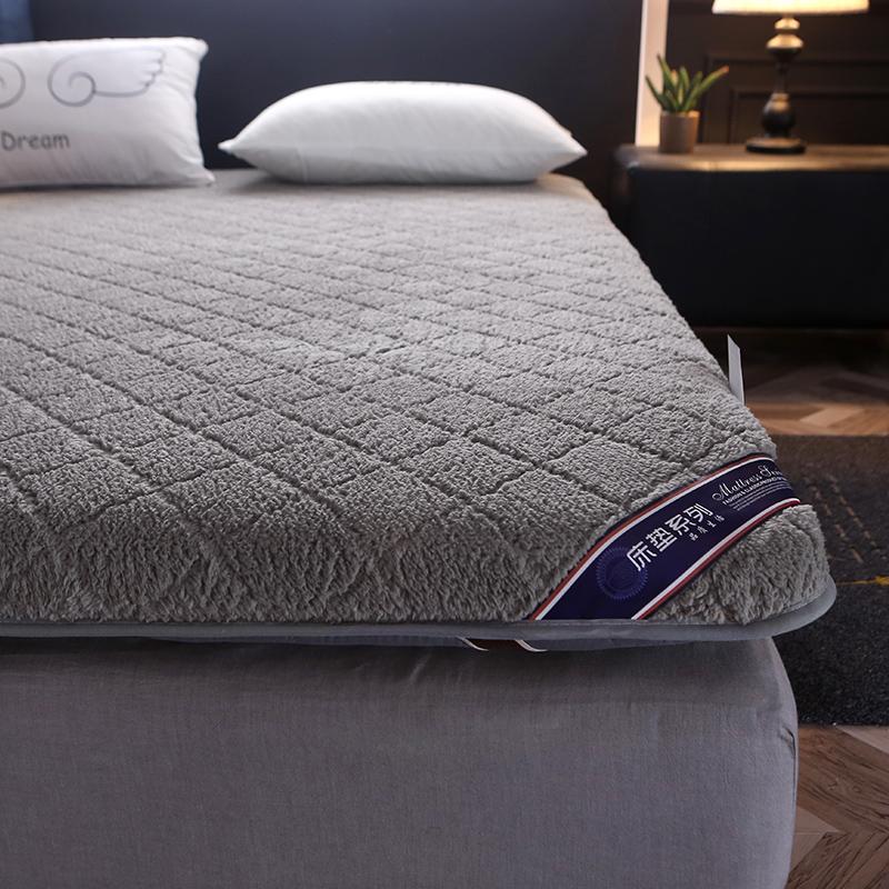冬季羊羔绒床垫 1.5m床2米双人加厚保暖榻榻米垫被1.8m海绵床褥子12-02新券