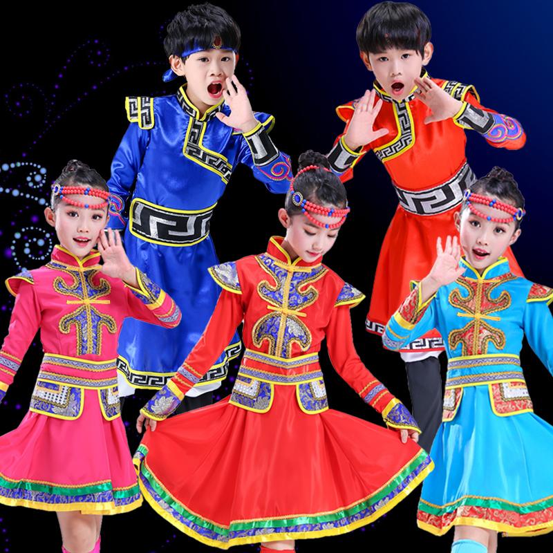 少数民族服装男女藏族舞蹈蒙古袍