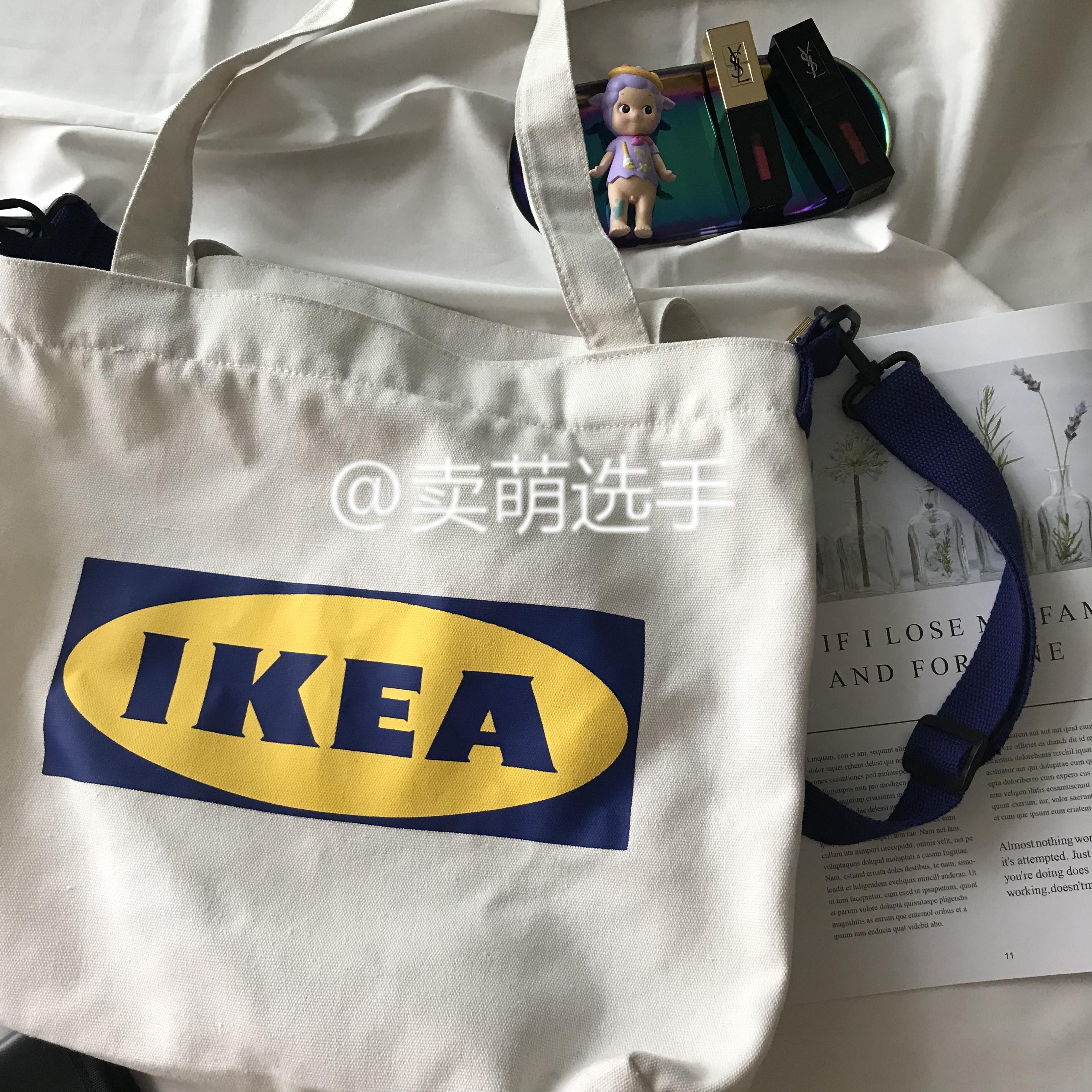 【现货】Ikea 宜家托特包单肩包帆布包男女手提包斜挎包ins爆款