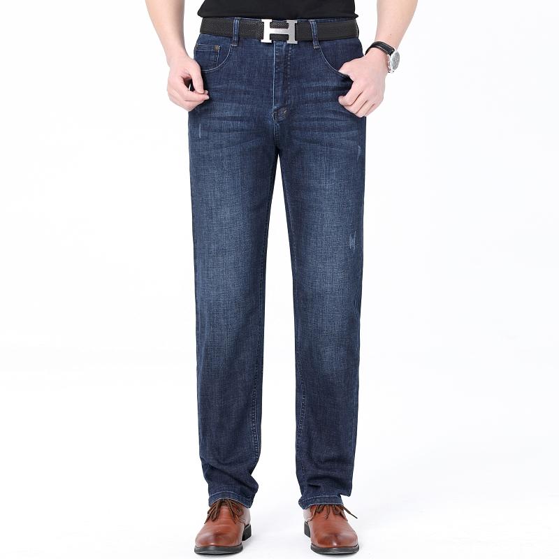 男士韩版直脚春季男装长裤低腰2021青年常规牛仔裤合体直筒裤子