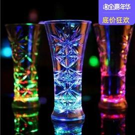 炫彩发光七彩闪光水杯子酒杯感应杯菠萝送闺蜜生日礼物女倒水就亮图片