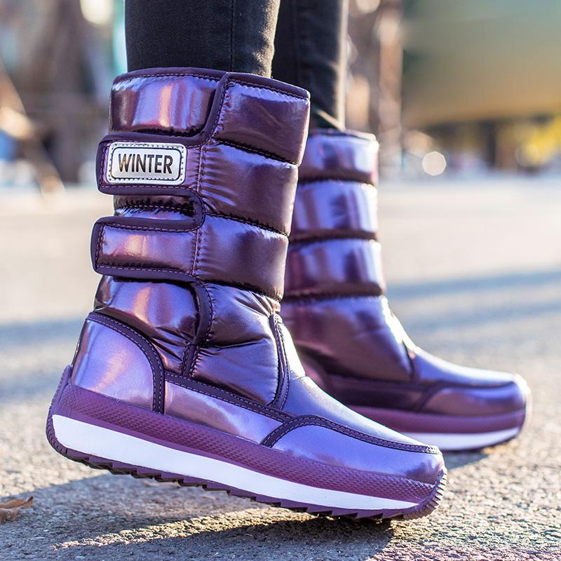 东北雪地靴2021年厚底中筒棉鞋冬季加绒加厚女款保暖防水冬天女鞋