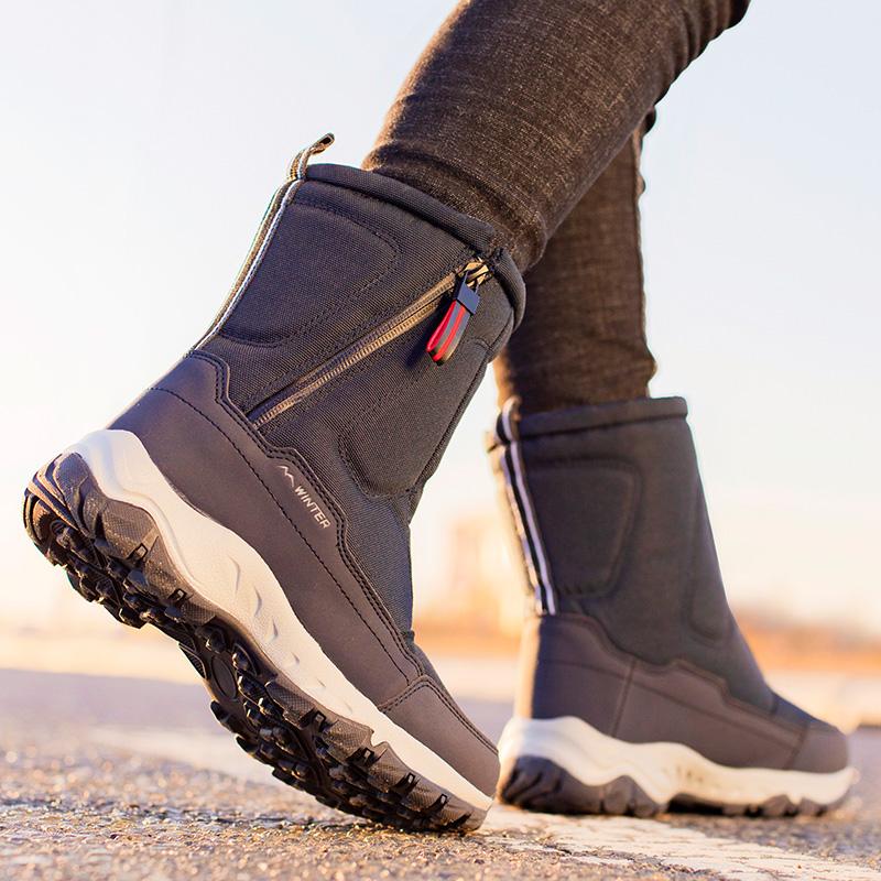 东北户外雪地靴女款防水男士保暖棉鞋2021年加绒加厚短筒冬季女鞋