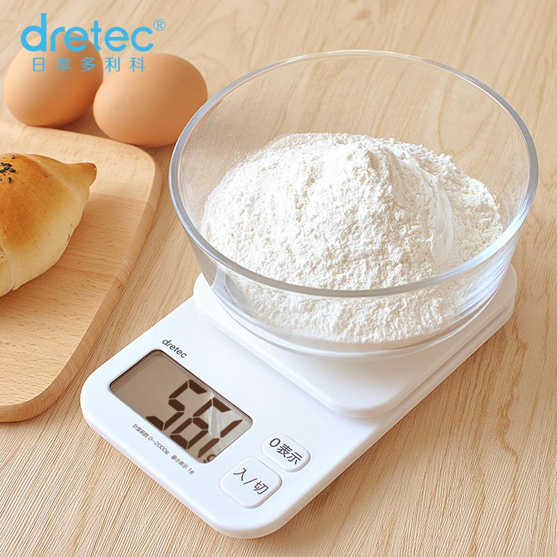 dretec多利科厨房秤家用高精度烘焙秤商用电子克数称秤小型食物秤