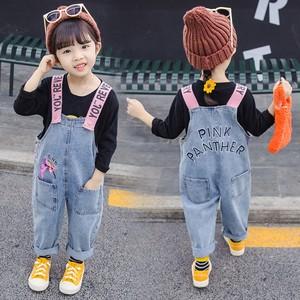 儿童春季洋气背带裤2020韩版女童长裤女宝宝休闲春秋牛仔裤子2岁